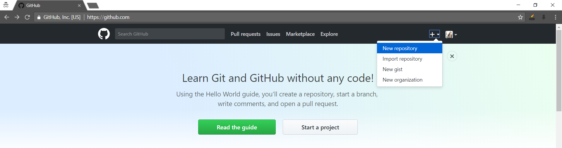 create new repository
